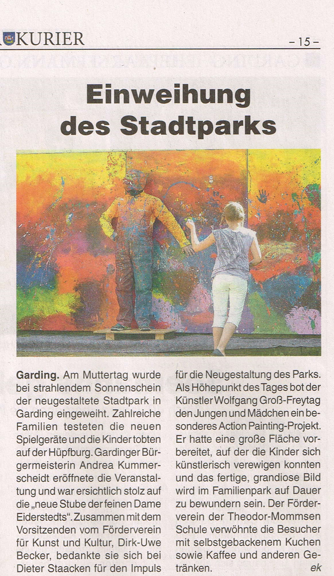 Action Painting im Stadtpark